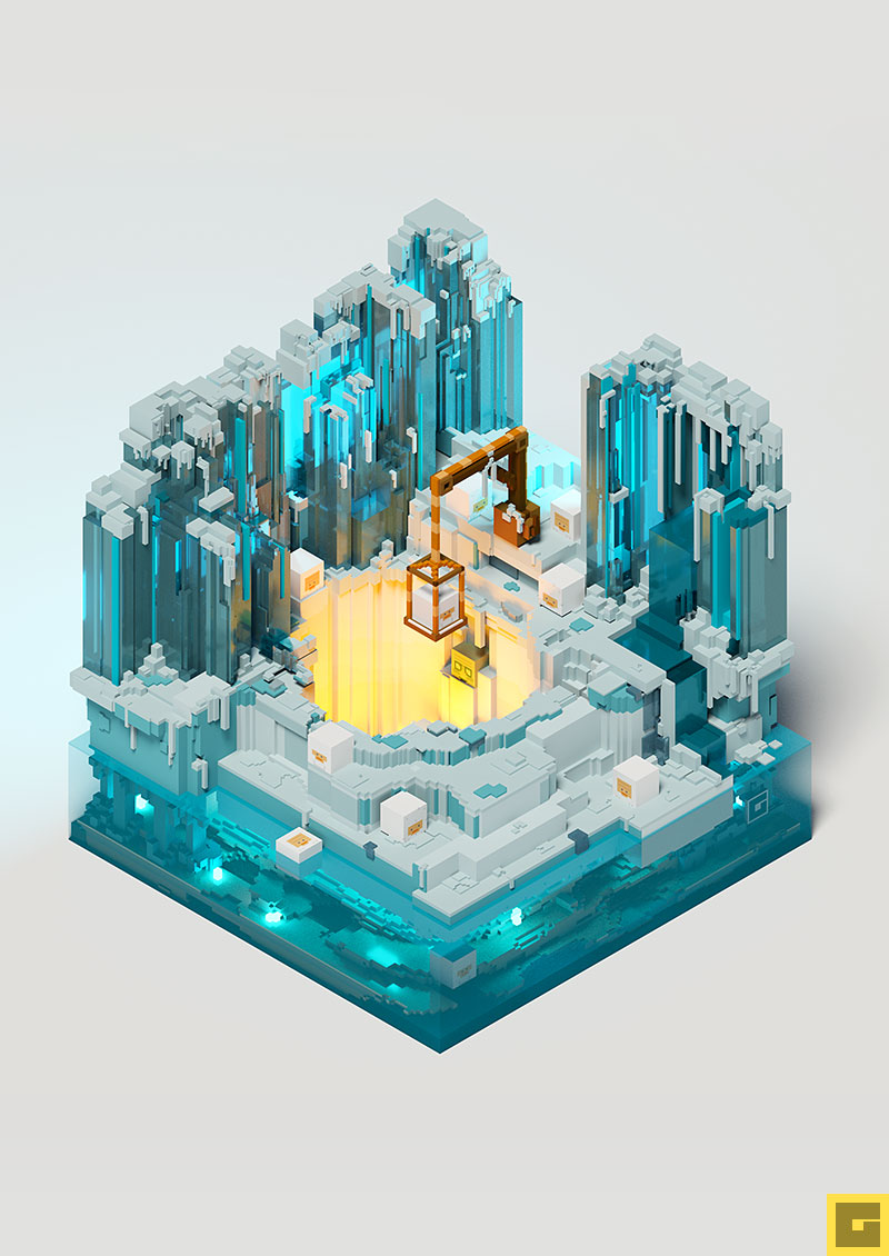 Ghoul Voxel Diorama The North